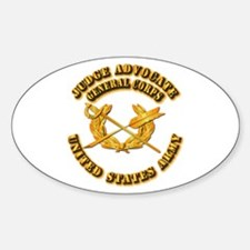 Army - Judge Advocate General Corps Sticker (Oval)