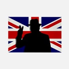 Winston Churchill Victory Rectangle Magnet (10 pac