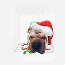 Shar Pei Christmas (d) Greeting Card