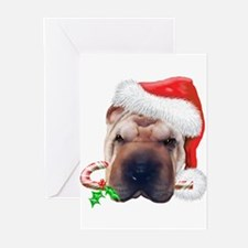Shar Pei Christmas (d) Greeting Cards (Pk of 10)