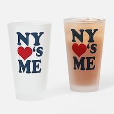 NY Loves Me Drinking Glass