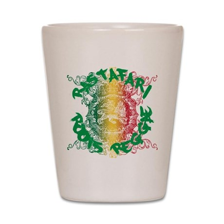 Rastafari Roots Reggae Shot Glass