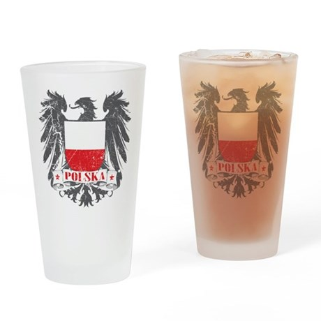 Polska Shield Drinking Glass