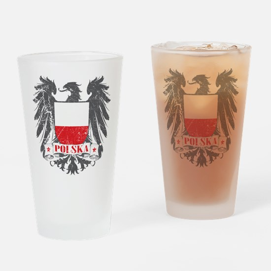 Polska Shield Drinking Glass