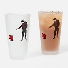 Shoot Down Love Drinking Glass