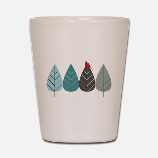 Winter Trees Shot Glass