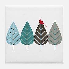 Winter Trees Tile Coaster