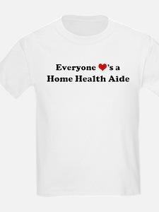 Loves a Home Health Aide Kids T-Shirt