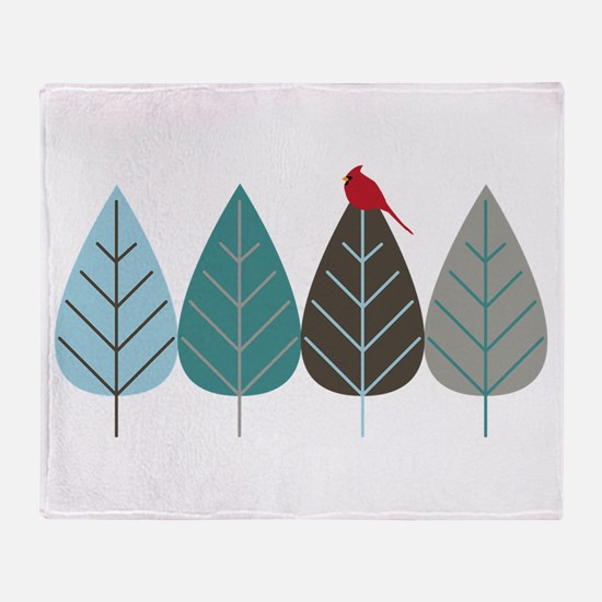 Winter Trees Throw Blanket