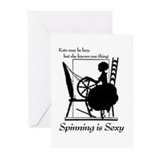 spin2 Greeting Cards