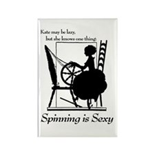 Cute Spinning wheel Rectangle Magnet