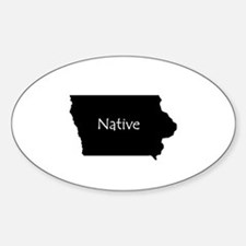 IowaNative-light Stickers