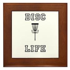 Cute Golf disc Framed Tile