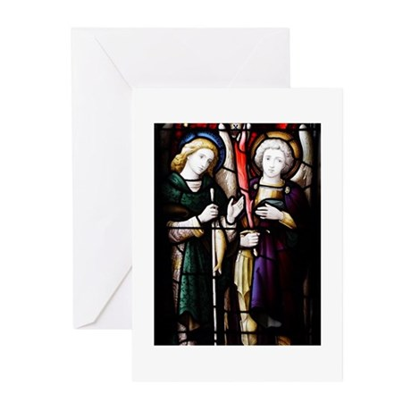 All Saints' Archangel Stained Glass Greeting Cards