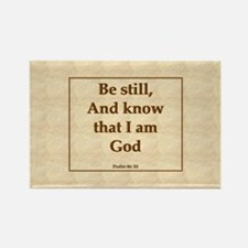 """Be Still"" Psalm Rectangle Magnet"