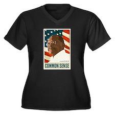 Herman Cain - Common Sense Women's Plus Size V-Nec