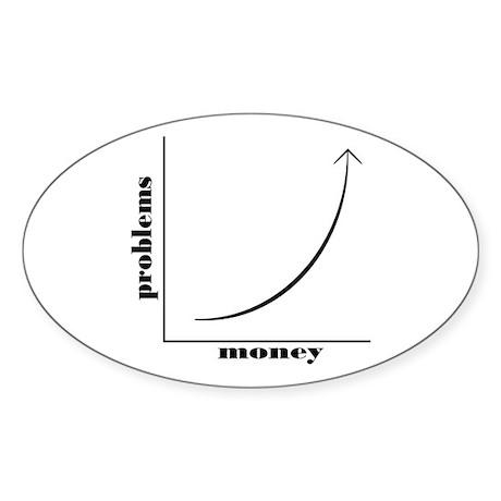 Mo Money Mo Problems Sticker (Oval)