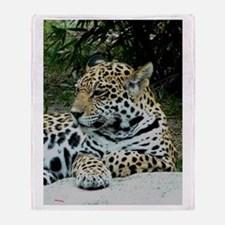 Jaguar Portrait Throw Blanket