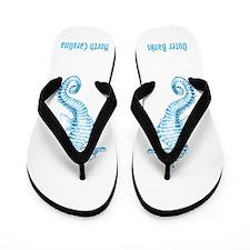 OBX-blue seahorse Flip Flops