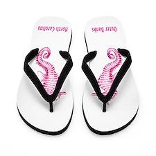OBX-pink seahorse Flip Flops