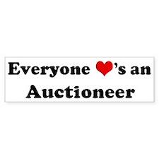 Loves a Auctioneer Bumper Bumper Sticker