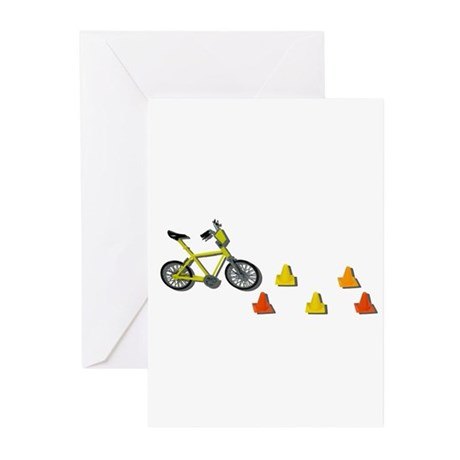 Bicycle Traffic Cones Greeting Cards (Pk of 20)