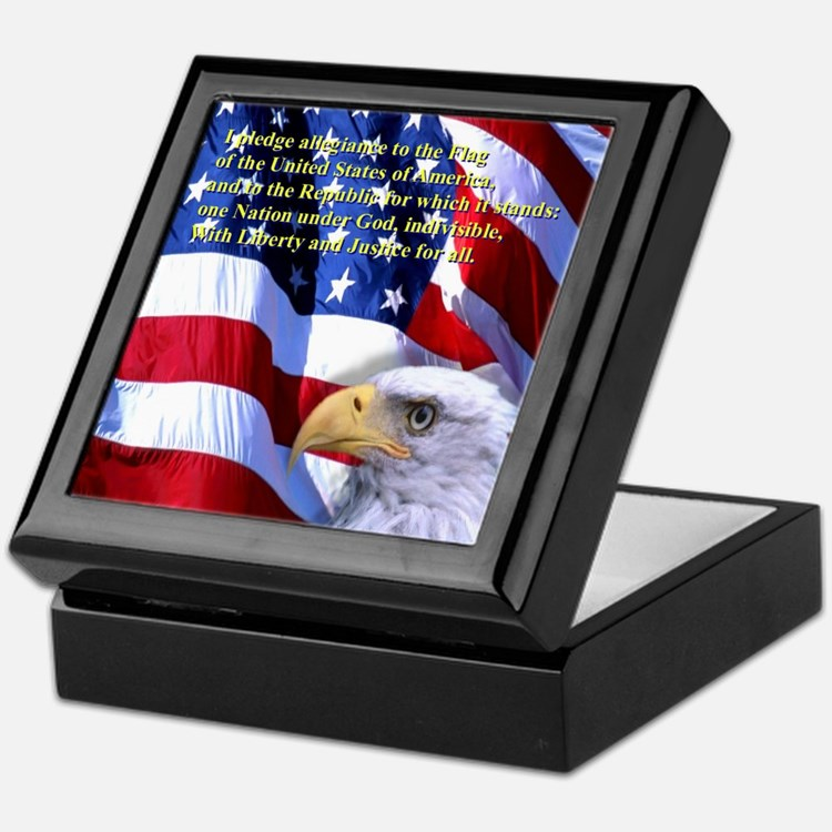 Pledge of Allegiance Keepsake Box