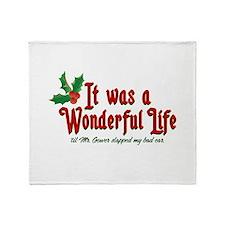 It Was a Wonderful Life Throw Blanket