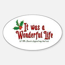 It Was a Wonderful Life Sticker (Oval)
