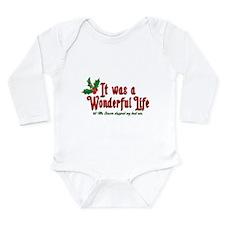 It Was a Wonderful Life Long Sleeve Infant Bodysui
