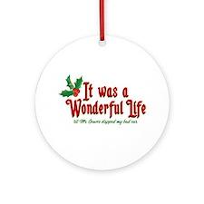 It Was a Wonderful Life Ornament (Round)