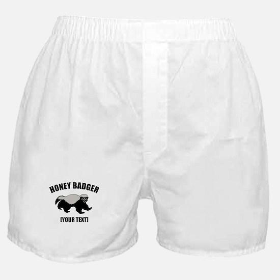 Honey Badger Custom Boxer Shorts