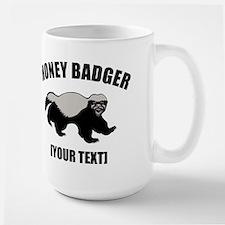Honey Badger Custom Large Mug