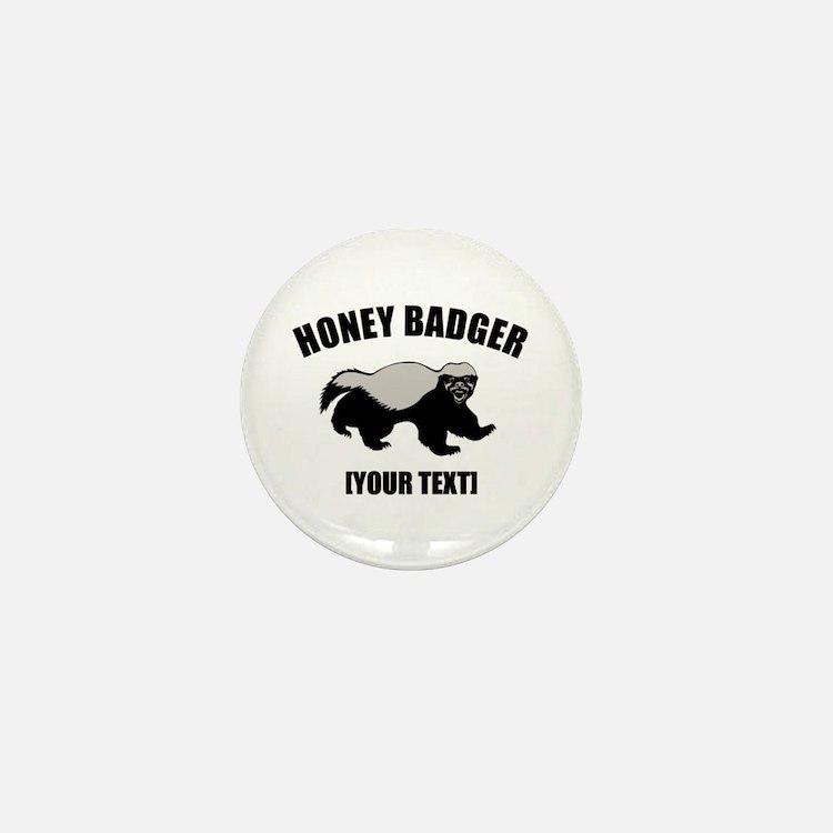 Honey Badger Custom Mini Button