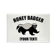 Honey Badger Custom Rectangle Magnet