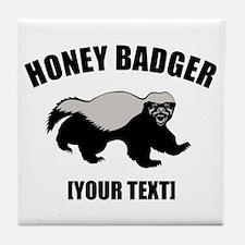 Honey Badger Custom Tile Coaster