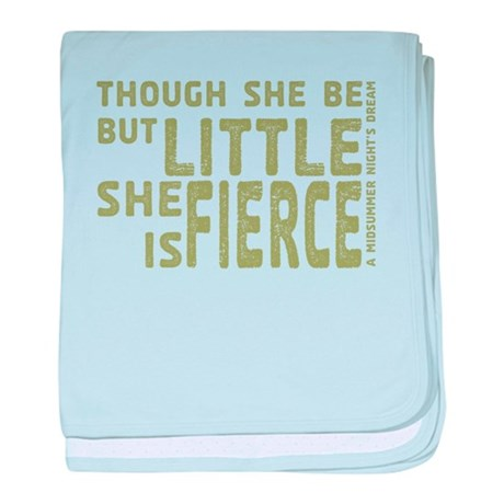 She is Fierce - Stamped Olive baby blanket