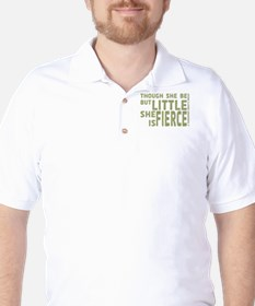 She is Fierce - Stamped Olive Golf Shirt