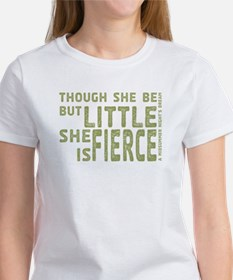 She is Fierce - Stamped Olive Tee