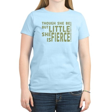 She is Fierce - Stamped Olive Women's Light T-Shir