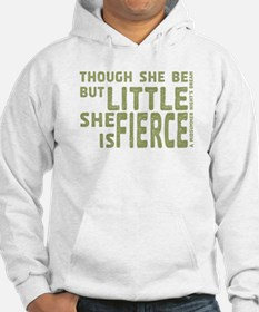 She is Fierce - Stamped Olive Hoodie