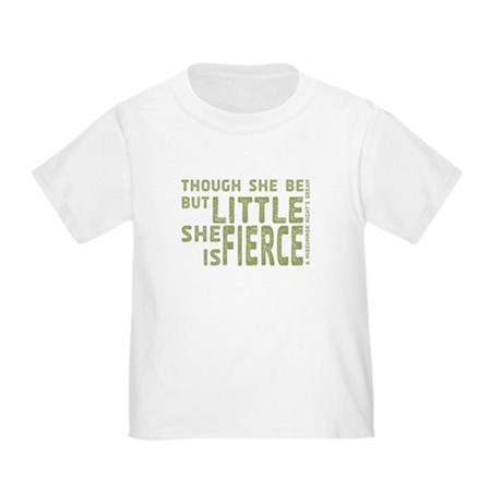 She is Fierce - Stamped Olive Toddler T-Shirt