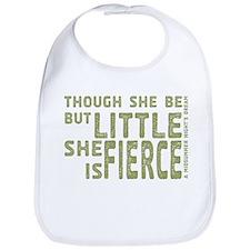 She is Fierce - Stamped Olive Bib