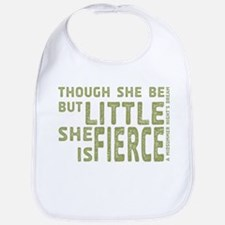 She is Fierce - Stamped Olive Bib