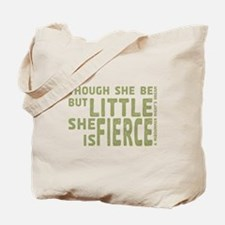 She is Fierce - Stamped Olive Tote Bag
