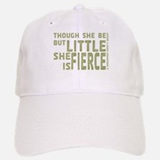 She is Fierce - Stamped Olive Baseball Baseball Cap