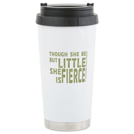 She is Fierce - Stamped Olive Stainless Steel Trav