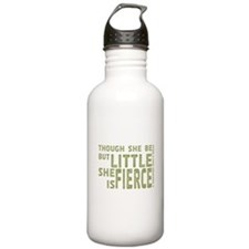 She is Fierce - Stamped Olive Water Bottle