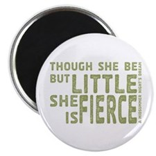 She is Fierce - Stamped Olive Magnet