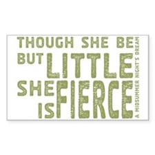 She is Fierce - Stamped Olive Decal